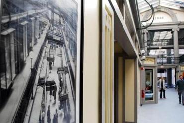 An image of the Arcade in the 1950s was seen on the wall of the renovated structure.